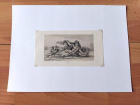 1879年铜版蚀刻《地理隐喻画:多瑙河女神及众侍从(寓意多瑙河与其众多支流)》(Die Donau)-- 出自19世纪著名奥地利浪漫主义画家,莫里兹·冯·施温德(Moritz Von Schwind,1804-1871)作于1860年的油画,藏于慕尼黑新绘画陈列馆 -- 画作寓意美丽的多瑙河在众多的支流的簇拥下 -- 奥地利维也纳艺术画廊出版-- 后背衬纸35*26厘米,版画纸张20*10.5厘米