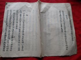 中医手稿本《燥》清,1册全,13面,大开本,长28cm20cm,品如图。