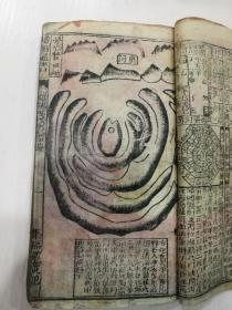 三色套印,增删通书一厚本,前面从第一页开始的