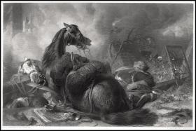 1854年钢版画《战争》(兰西尔),31.8*23.3cm