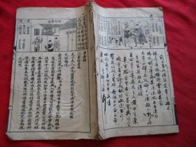 版画线装书《书名不祥》清,1册(卷上),品如图。
