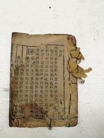 木刻,乾隆刻本,袖里百中经一册全,仅首尾页有小伤