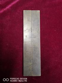 民国间文房类    铜镇纸   南海之行 山水类    一对 长19厘米 宽3厘米