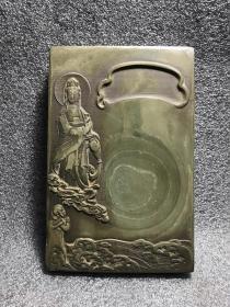 旧藏文房用品石雕砚台