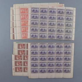 1947年 中华邮政总局成立50周年纪念新票5枚全套全张 整版50枚 HXTX226312