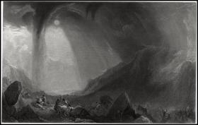 【透纳重要作品】1863年钢版画《汉尼拔穿越阿尔卑斯山》,31.4*21.3cm