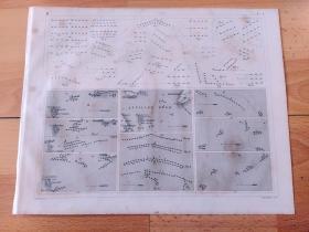 1848年钢版画《航海与造船业发展历程图版28: 中世纪航海图 (海上向导地图)的绘制原理》(Nautical chart)-- 航海图直接用于舰船航线设计、定位导航和系泊,保证航行安全的海图,是最早的专用海图;世界最早的海洋地图是14-17世纪的波特兰型海图,图上布满放射状的方位线,借助这些方位线和罗经仪,可以随时测定船在海洋上的方向 --出自《世界古代与现代航海史》-- 版画纸张30*24厘米