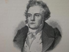 1890年木版画,艺术家肖像《奥地利画家,彼得·芬迪(Peter Fendi1796-1842)》尺寸22.7*30.7厘米,背面有字--是奥地利宫廷画家,肖像和体裁画家,雕刻师和石版画家。他是比德迈时期的主要画家之一。