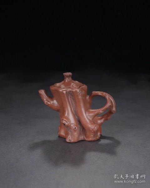 珍藏名家树桩紫砂壶