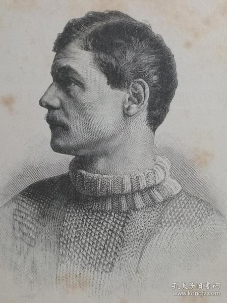 1890年木版画,艺术家肖像《奥地利画家,约瑟夫·恩格哈特Josef Engelhart1864-1941》尺寸22.7*30.7厘米,背面有字--是奥地利 画家和雕塑家。他是1900年左右维也纳艺术界的主要人物之一,也是维也纳分离派的共同创始人之一。