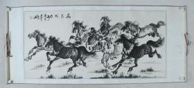 画家 陈天明 2010年作 《马到成功图》国画一幅(纸本横幅,尺寸约6.8平尺,钤印:陈天明印)HXTX382050