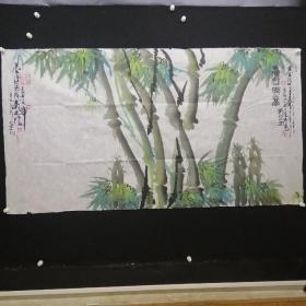 B5-17-10宋庄著名画家,北京书画院画家大幅国画15平尺