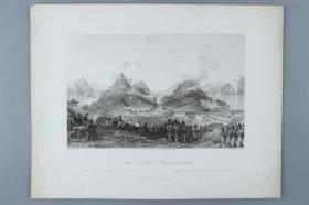 著名版画家、建筑大师 托马斯·阿罗姆《Attack and capture of chuen-pee near canton(大角战役)》铜版画一幅(收录于《大清帝国城市印象:十九世纪英国铜版画》) HXTX383197