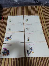 米老鼠图案空白信封(8枚)