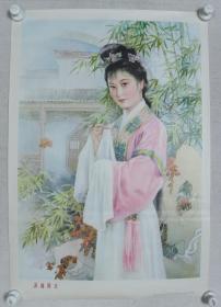 1982年 上海人民美术出版社出版 上海新华书店发行 金雪尘作 宣传画《潇湘黛玉》一张(尺寸:76*52CM)HXTX383209