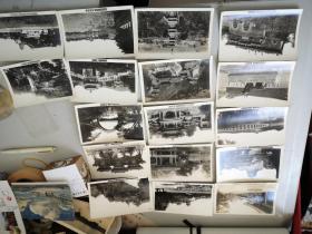 民国期间  老北京照片 17幅 明信片大小 带有景物名称  尺寸9*14厘米明信片大小
