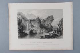 著名版画家、建筑大师 托马斯·阿罗姆《the foochun hill in the province of che keang(富春江图)》铜版画一幅(收录于《大清帝国城市印象:十九世纪英国铜版画》) HXTX383199