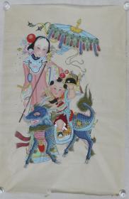 六七十年代  年画《麒麟送子》 一张(尺寸:105*68cm) HXTX383238