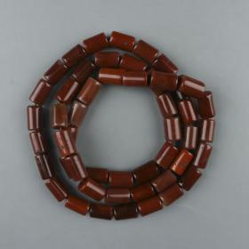 老玛瑙长珠长串 一件(五十粒,单珠长2cm,宽1.3cm)HXTX223880