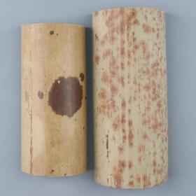 斑竹文房臂搁 两件(大:17.5*7.5cm,小:14.6*6.5cm)HXTX226207