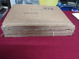 民国期间  红格稿本三册  空白未书写  大16开方本 每册100页200面 尺寸27*20厘米 干净整齐带有黄斑