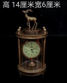 纯铜小鹿机械表,能正常使用,重量312g