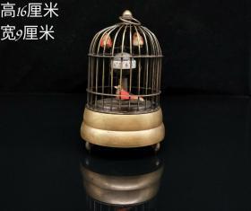 纯铜鸟笼机械表,能正常使用,重量437g
