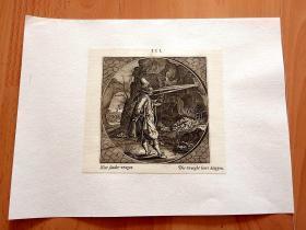 1712年铜版画《学会与人沟通,能让你事半功倍》(Niet sonder vragen—Die vraegbt leert klappen)--雅各布猫作品插画系列--后背纸张尺寸30*22.5厘米,版画纸张尺寸15.6*14.3厘米