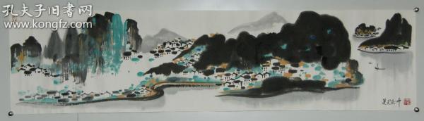 【吳冠中】江蘇宜興人 當代畫家 油畫家 精品