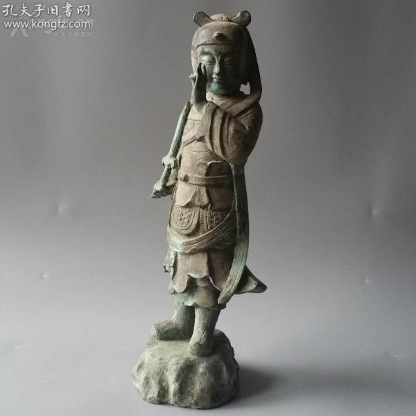 舊藏,大型老銅,佛像造像,佛像擺件,高36公分 佛像精品,古玩收藏