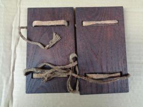 老楠木书夹板一对,长15cm9cm,,品好如图。