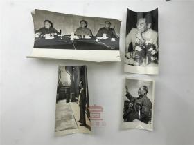 【老照片】毛主席、周总理等照片一组四张合拍(如图)【200113A 02】