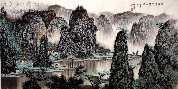 """""""京派""""新山水的代表人物之一【白雪石】山水"""