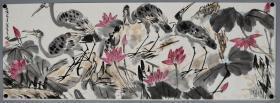 中国当代杰出的大写意花鸟画家、人民的美术教育家 【李苦禅】 花鸟