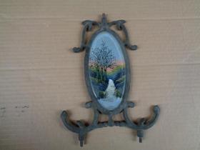 清朝铜镜一块,品好如图。