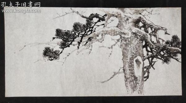 14-33已故四川著名畫家【許懷世】家中流出,花鳥畫軟件,尺寸:140*70厘米,無章款