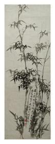 J7-2【周昆】曾师从刘海粟、黄宾虹、潘天寿等美术大师,中国书画家协会会员,省文联书画研究中心特聘画师,已故著名画家1986年花鸟画一幅,软件未裱。画心尺寸103*36厘米(约3.3平尺)