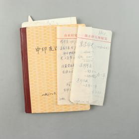 国学大师 季羡林 1988年签名宴请用费单等 两页 附相关单据及资料等十余页、笔记一册 HXTX315113