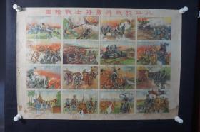 民国《八年抗战英勇将士图》抗战宣传画   HXTX308940
