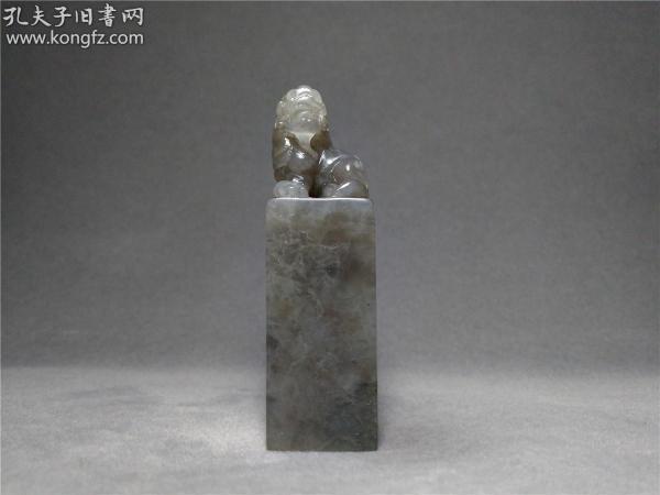 寿山石 高山晶貔貅古兽钮印石料,自产自销21