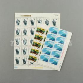80年代初 T字头散票 三张共65枚:含T73八分邮票30方连、T55四分邮票15方连、T48十分邮票20方连HXTX309617