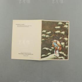 抗战时期 宋美龄创立中国妇女救济会 特制精美贺卡《四季平安》一件(此为在美国印制出售贺卡,为救助战争孤儿募款,为难得抗战纪念品)HXTX309314