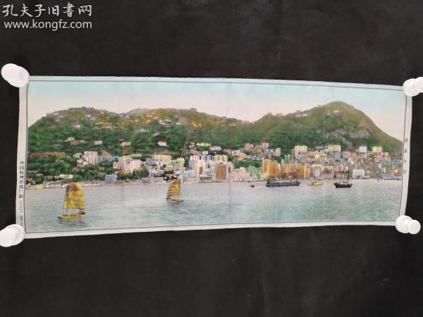 中国杭州织锦厂《香港全景》织锦,HXTX309080