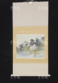 【日本回流】原装旧裱 玉堂 水墨山水画 一幅带盒43(绢本立轴,约1.3平尺)HXTX308890