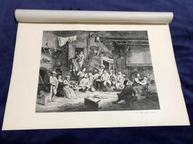 1877年高清照相版《在旅馆中跳舞》—荷兰黄金时代风俗画画家阿德里安·范·奥斯塔德(Adriaen van Ostade,1610-1685年)作品 45.1*31.4厘米