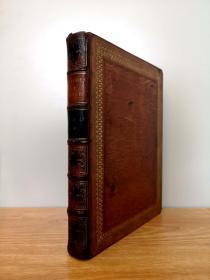 19世纪40年代 Galleries of Munich vol 3,62幅极精美的整页钢版画,豪华装帧,棕黄色摩洛哥羊皮,烫金纹饰,三面书口刷金