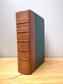 1845 The Poetical Works of Lord Byron 拜伦诗作全集,2张钢版画+拜伦手迹复本,一厚册