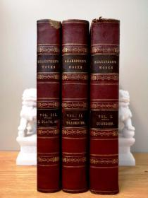 The Complete Works of Shakespeare 3卷全,83张整页钢版画插图