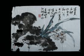 著名画家、国家一级美术师 赵洪波 庚寅年(2010)水墨画作品《富贵亦神仙》一幅(纸本软片,约2.9平尺)HXTX311015